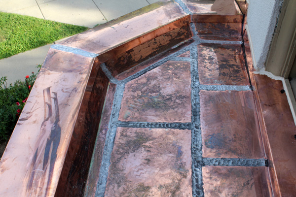 copper flat lock roofing installation