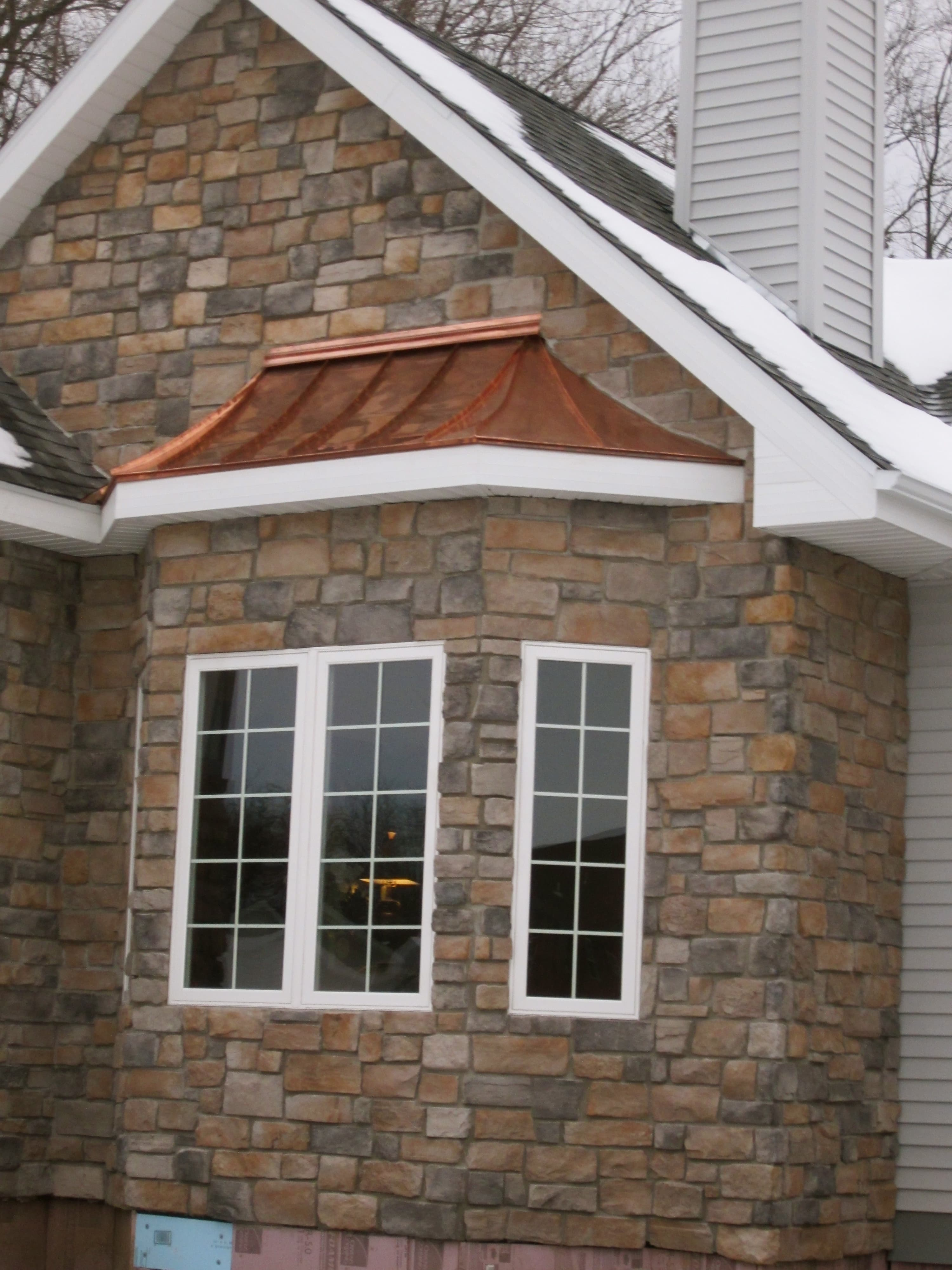 Fitchburg Copper Bay Window Roof