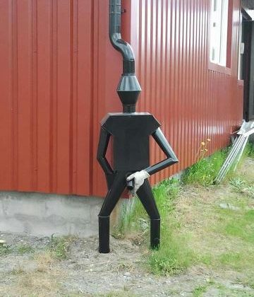 tin man downspout man