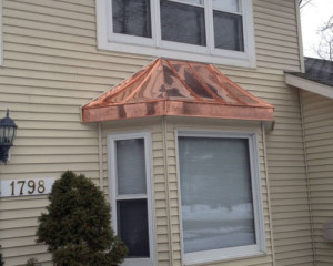 copper bay window roof Madison, WI