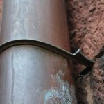 historic copper downspout hook bracket
