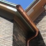 6 inch euro copper gutter and 4 inch copper downspout