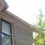 6 inch euro copper gutter with fascia mount brackets
